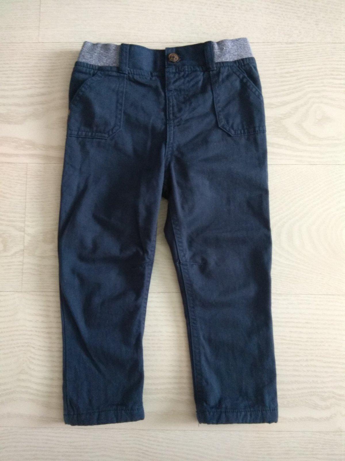 Zateplené tmavomodré nohavice s poštovným - Obrázok č. 1