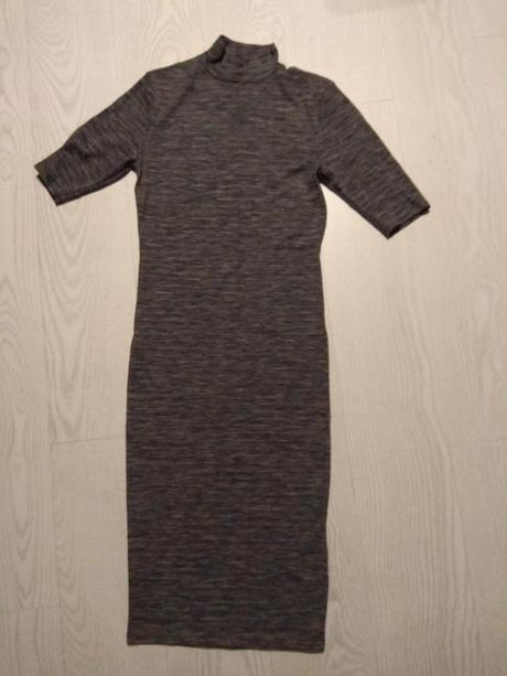 Melírované šaty so stojačikom na bežné nosenenie - Obrázok č. 1