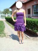 Nariasené šaty s čipovanou suknou, 36