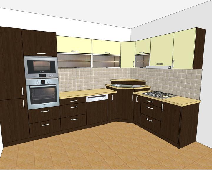 Náš 3-izbový bytík.... - návrh kuchyne - už objednaná veľmi dobrá firma....vrelo odporúčam!