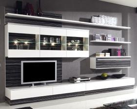 asi táto obývacia stena....bude čierno-bielo-červená obývačka...