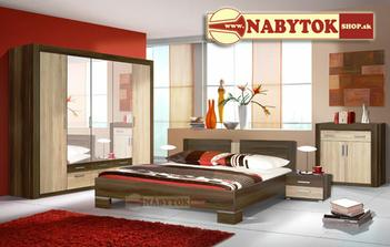 manželská posteľ a nočné stolíky....komoda sa bohužiaľ nezmestí a skriňa nie je zásuvná,čo sme tiež nechceli...:-/