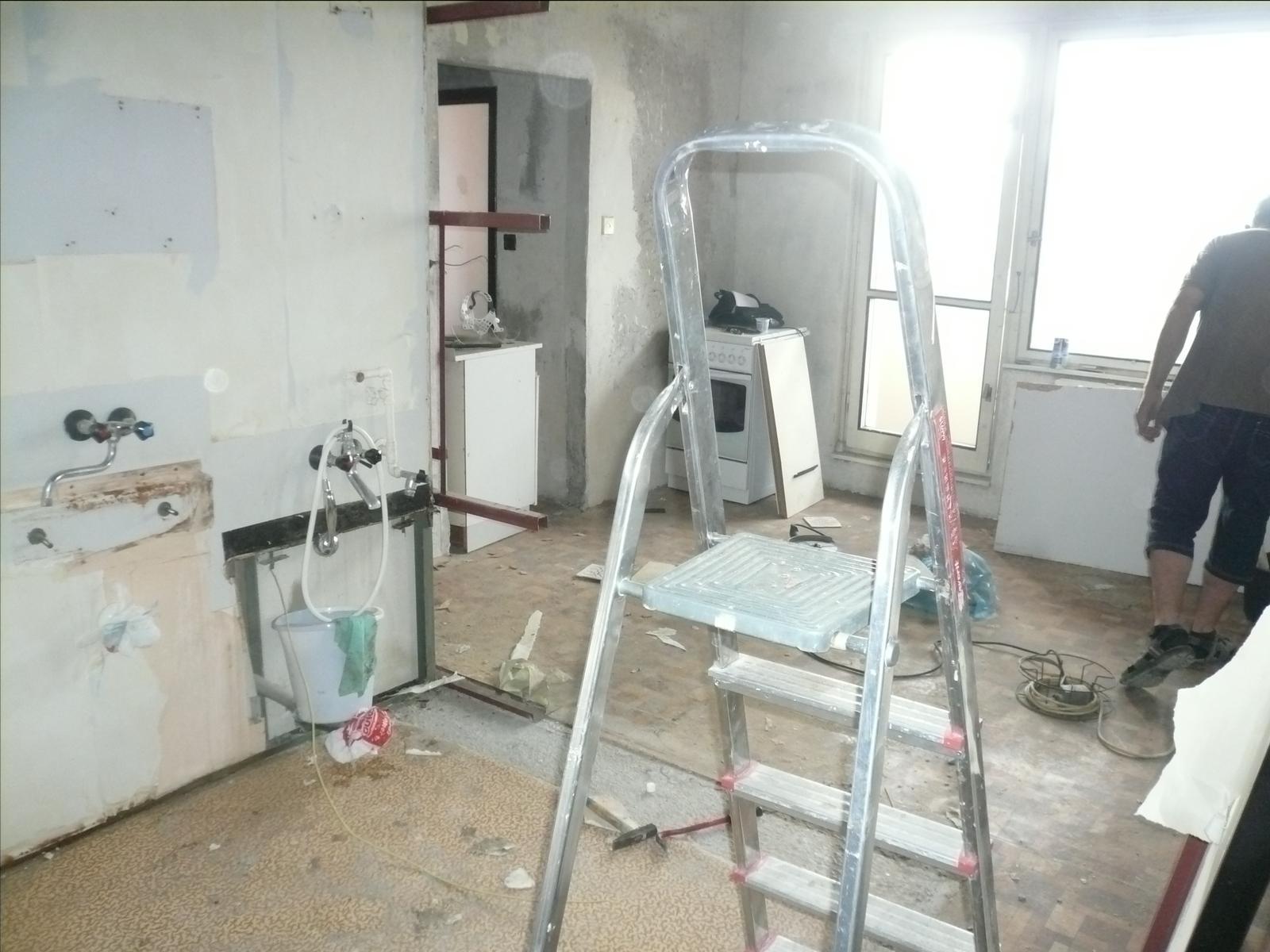 Prerábka bytu - demontáž jadra