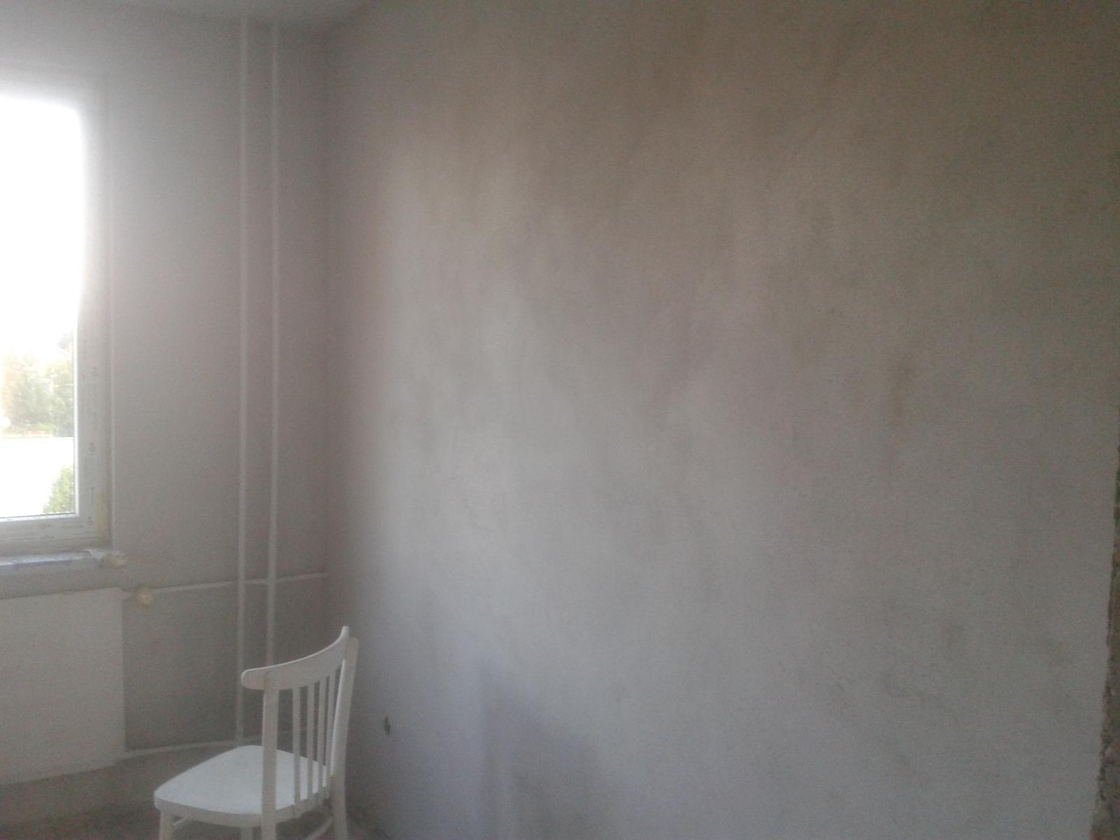 Prerábka bytu - spálňa stierkovanie