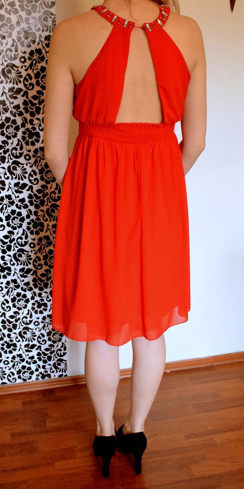 Spoločenské šaty krátke červené S / 36 - Obrázok č. 2