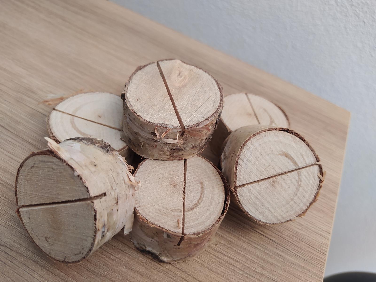 Stojan na menovky - breza 120ks - Obrázok č. 1