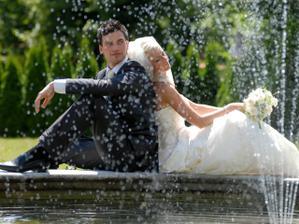 odpočinek u fontány