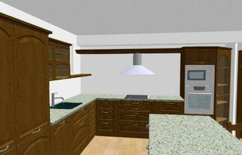 návrh kuchyně