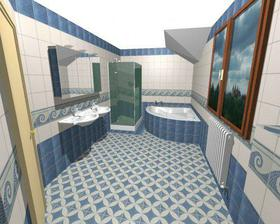 horní koupelna-moře, podlaha bude jiná