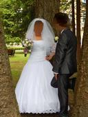 Svadobné šaty, veľ.42-46 s doplnkami, 44