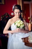 Princeznovské svadobné šaty - komplet, 40