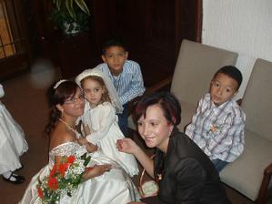 můj Andílek Adélka, má báječná sestra Eva a její dva kluci Filípek s Davídkem