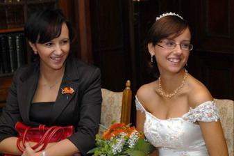 s mojí skvělou sestřičkou a zároveň mojí svědkyní Evou