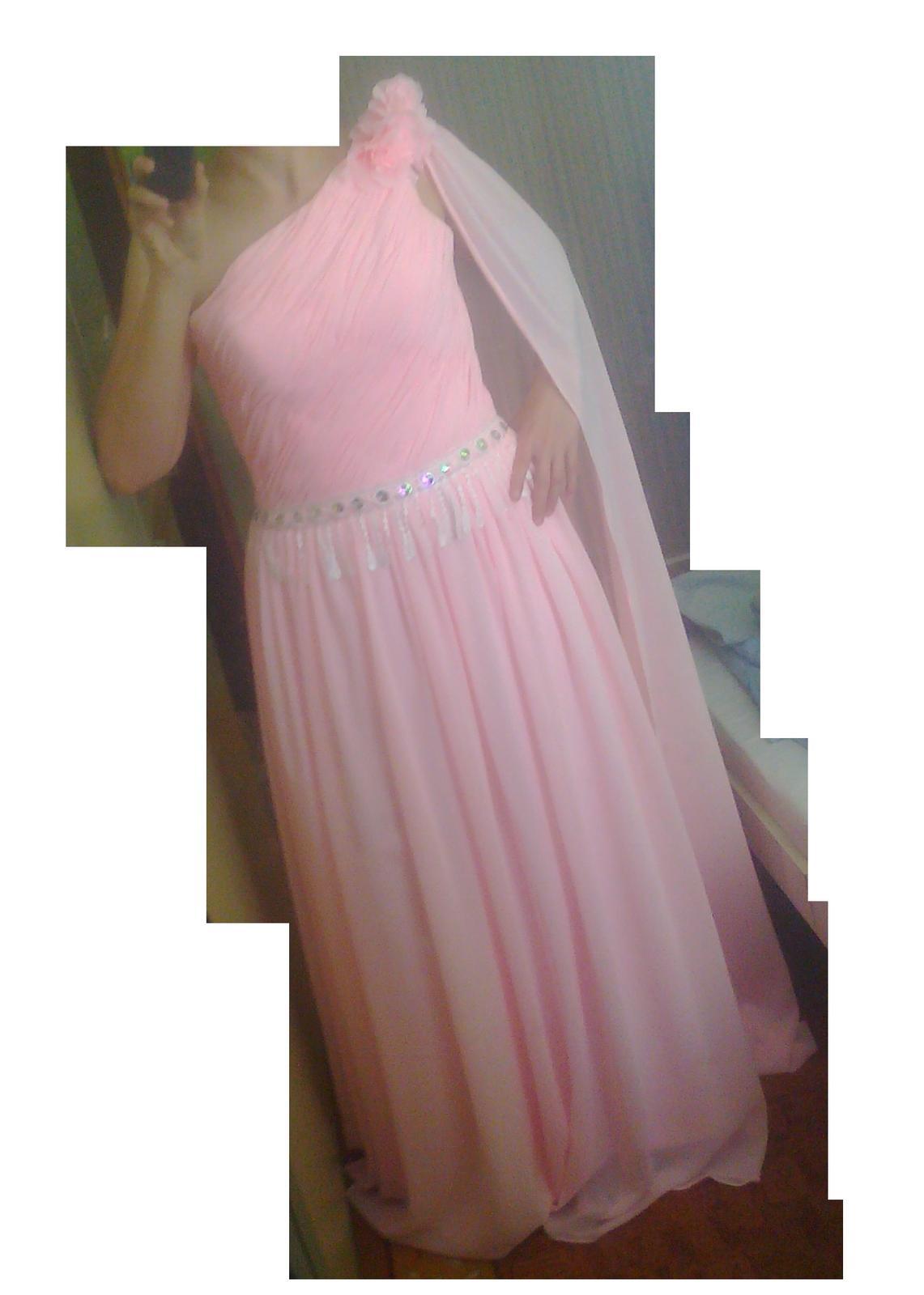 Spoločenské šaty s vlečkou, na šnurovačku  - Obrázok č. 1