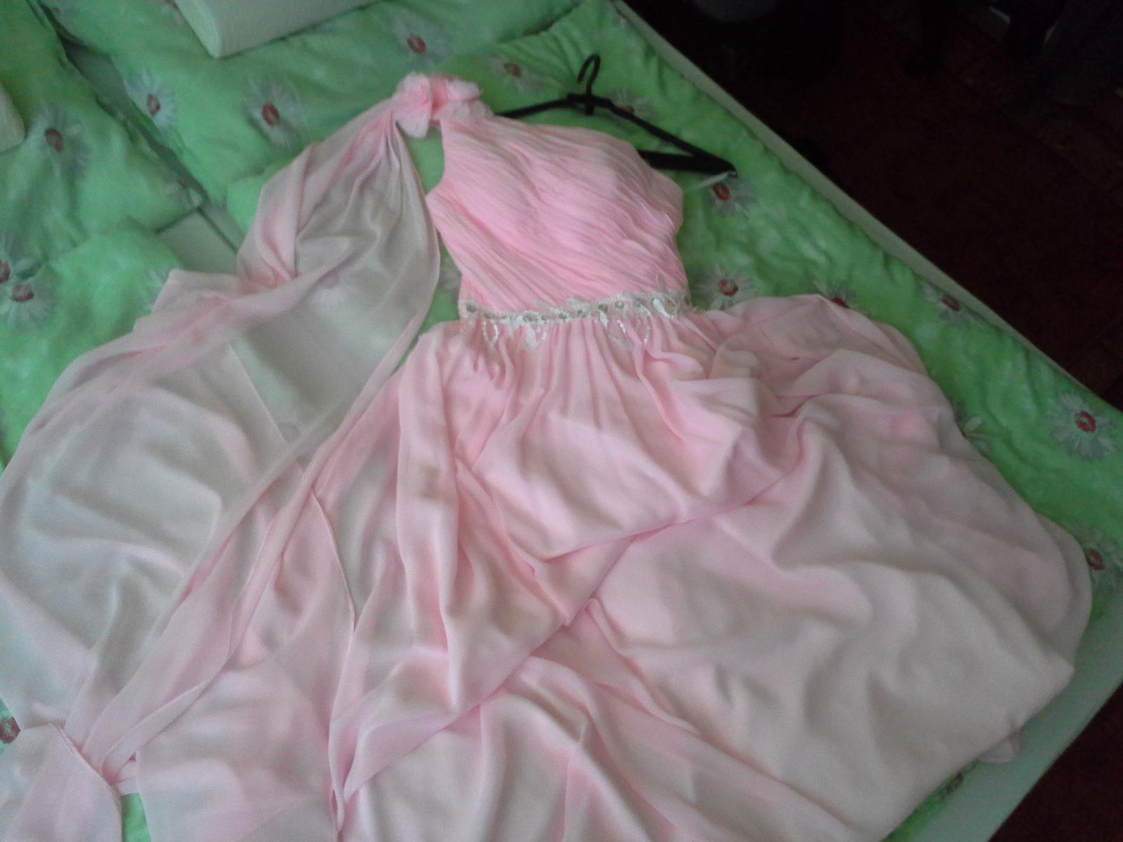 Spoločenské šaty s vlečkou, na šnurovačku  - Obrázok č. 2