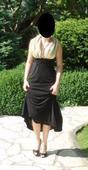 Zlato-čierne šaty vhodné na svadbu, 36