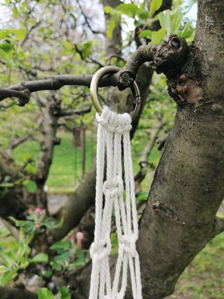 Makramé dekorácia, držiak na kvetináč alebo svietnik - Obrázok č. 2