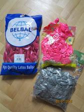 pořádná zásoba balonků