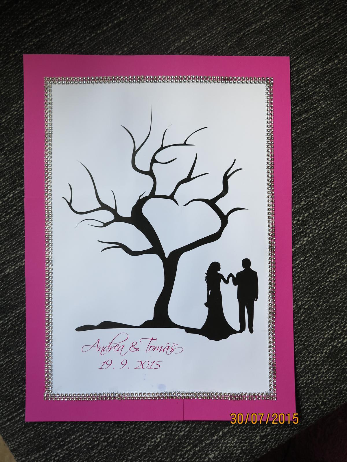 Co už máme :) - potuněný svatební strom