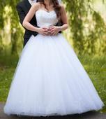 Luxusné svadobné šaty, veľkosť 36-38, 36
