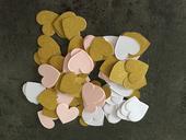 Srdíčka papírová nepoužitá - mix bílá,růžová,zlatá,