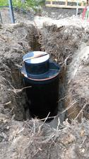 vodomerna sachta už na betónovom lozku