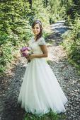 Krajkové svatební šaty 36-38, 38