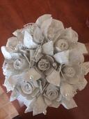 Papírová svatební kytice ,