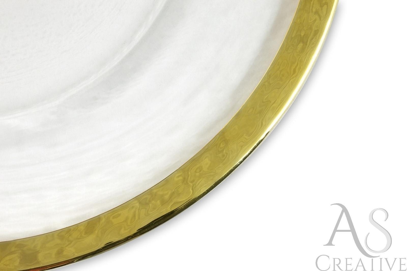 Klubové taniere na predaj - hladké so zlatým lemom - Obrázok č. 4