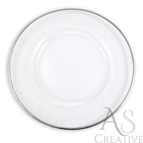 Klubový tanier na predaj Silver rim - Obrázok č. 1