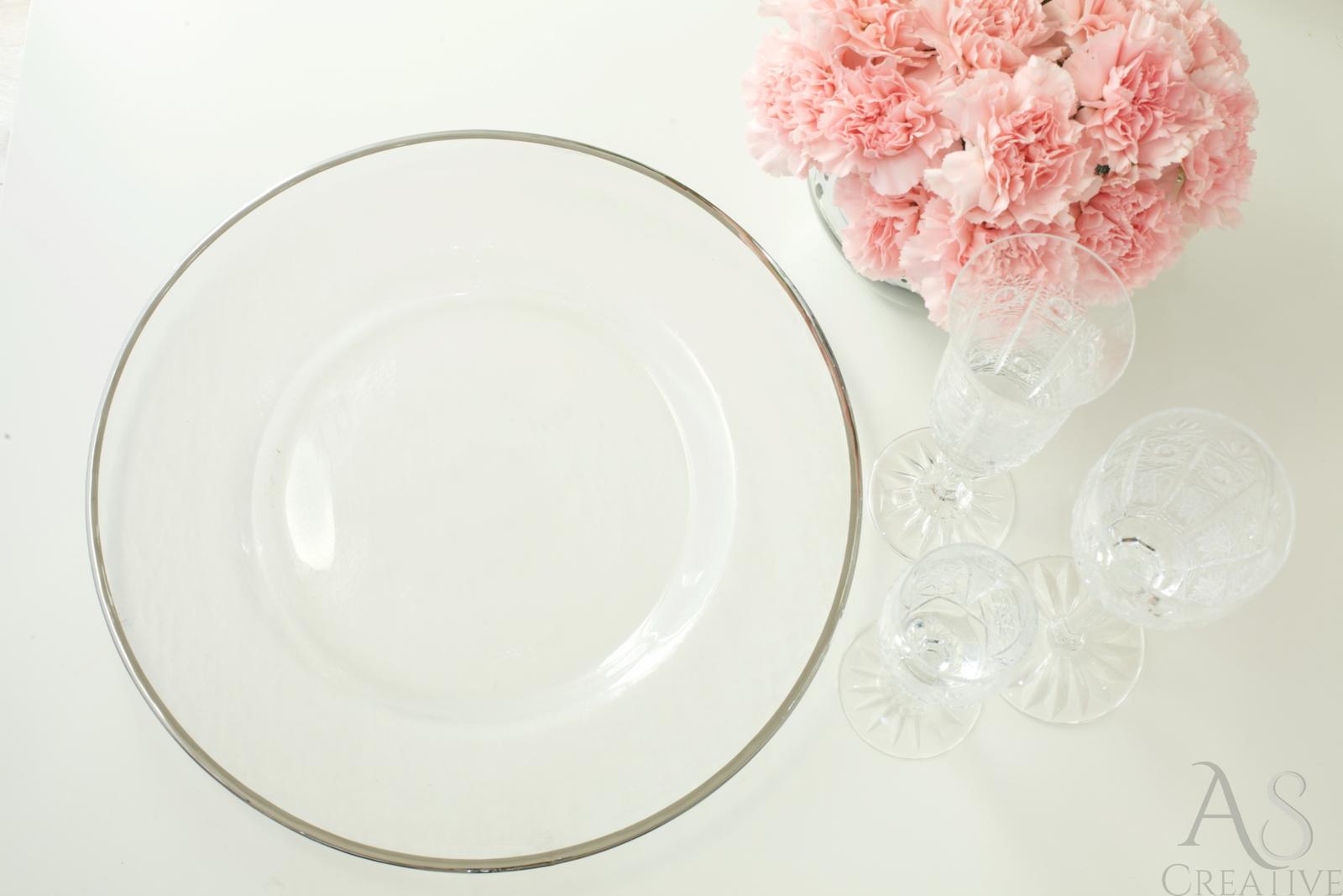 Klubový tanier na predaj Silver rim - Obrázok č. 3