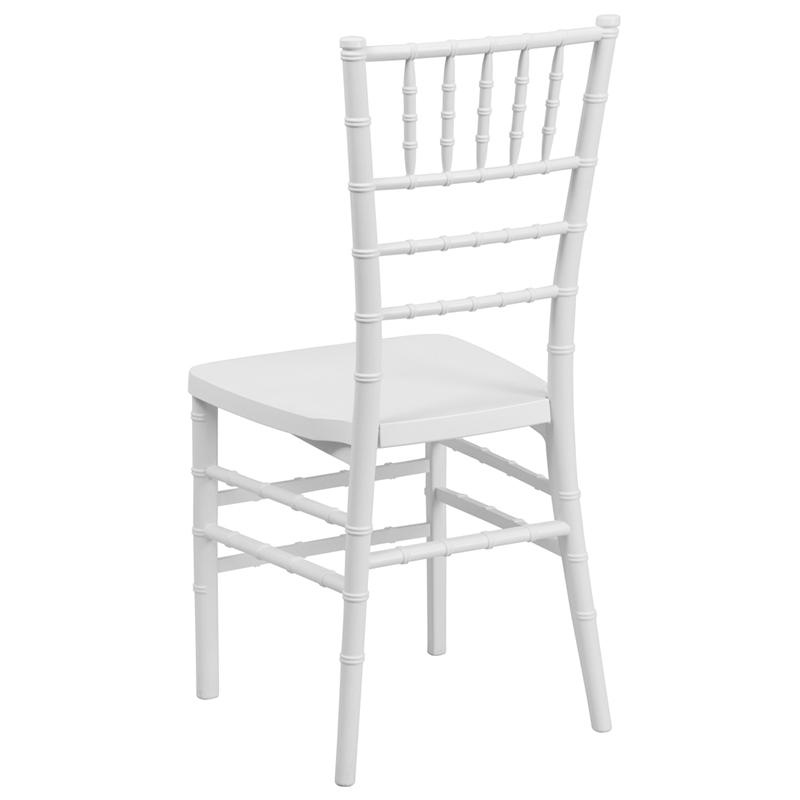 CHIAVARI stoličky - kovové biele s podsedákmi - Obrázok č. 2