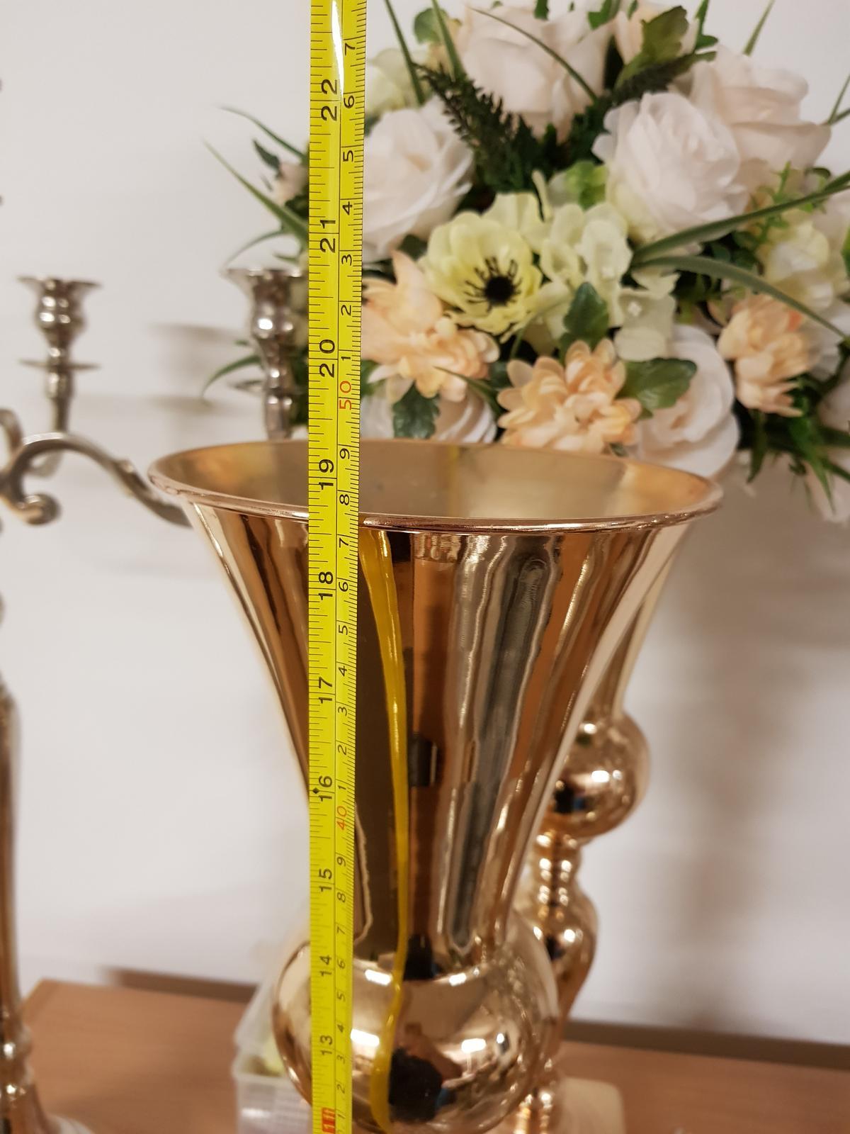 Váza zlatá 48cm - Obrázok č. 2