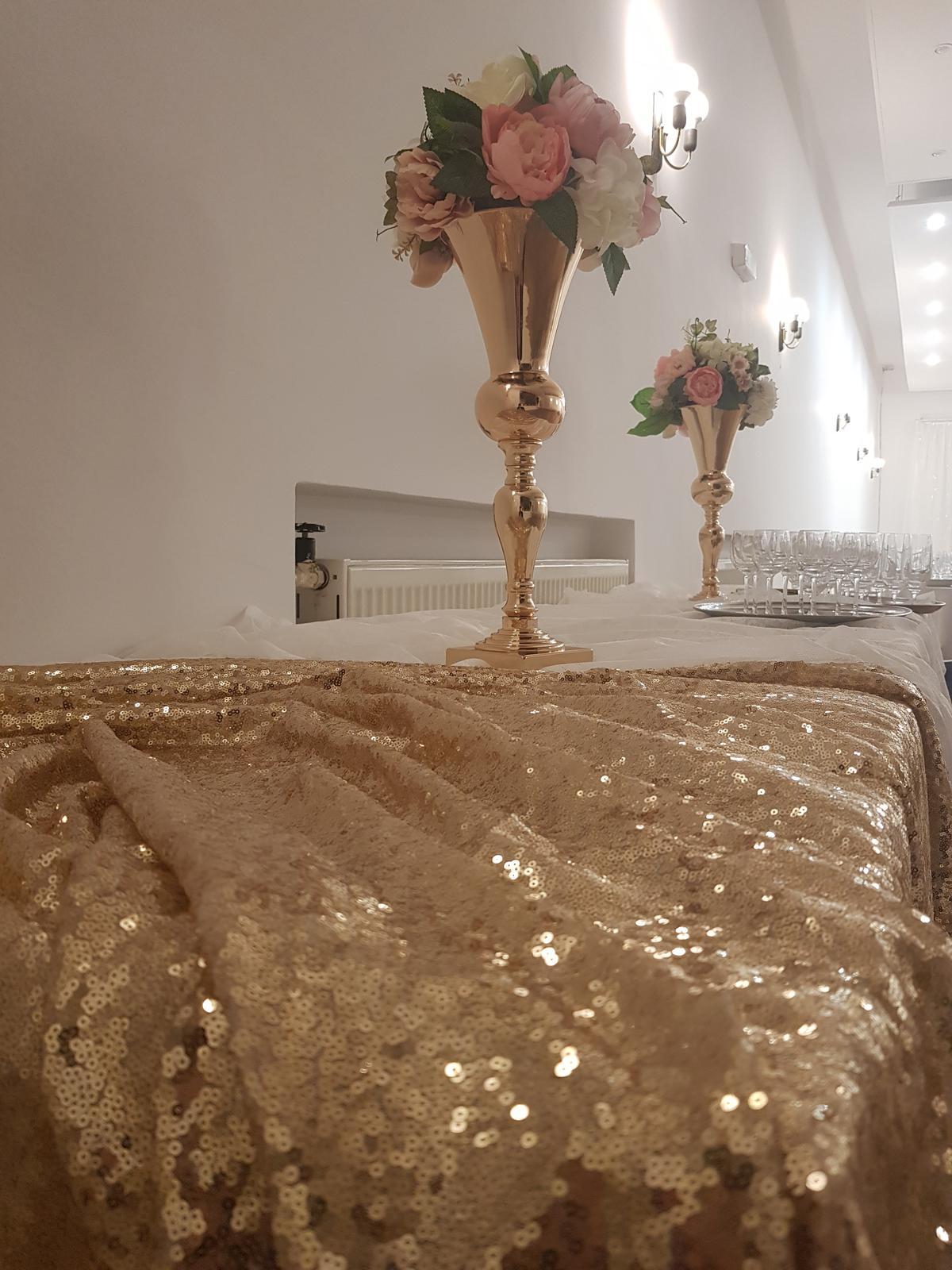 Váza zlatá 48cm - Obrázok č. 1