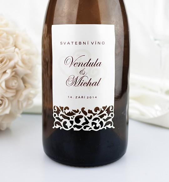 Přípravy na náš velký den D. - Etikety na svatební víno objednány.
