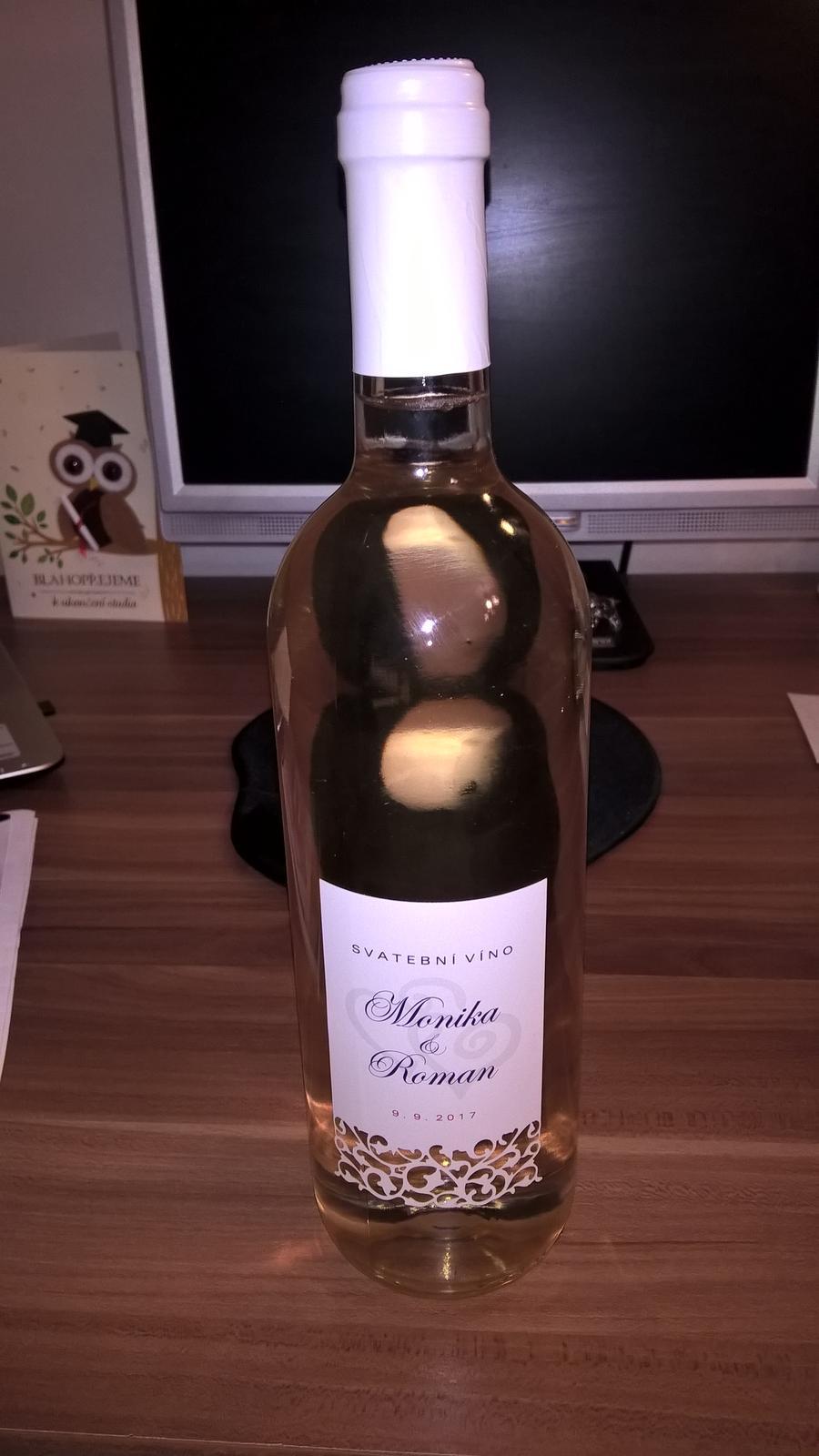Přípravy na náš velký den D. - Svatební víno