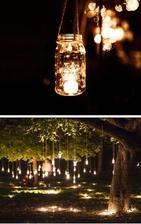 dekorace na strom-zavařovačky nachystány