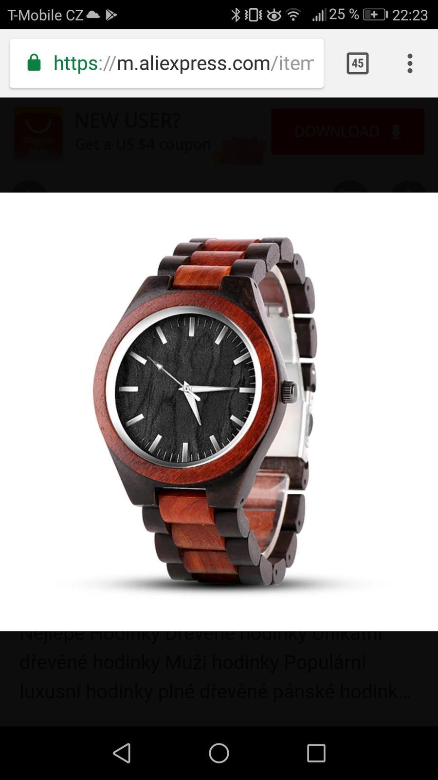 Co už máme - Dárečky pro tatinky dřevěné hodinky