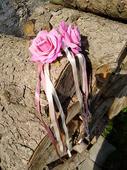Sada umělých růžiček- dekorace na auta/náramky,