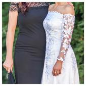 Šité svatební šaty, krajky a satén z Dubaje, 36