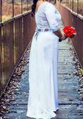 Svadobné šaty s folklórnou stuhou, 42