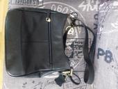 Černá kožená kabelka ,