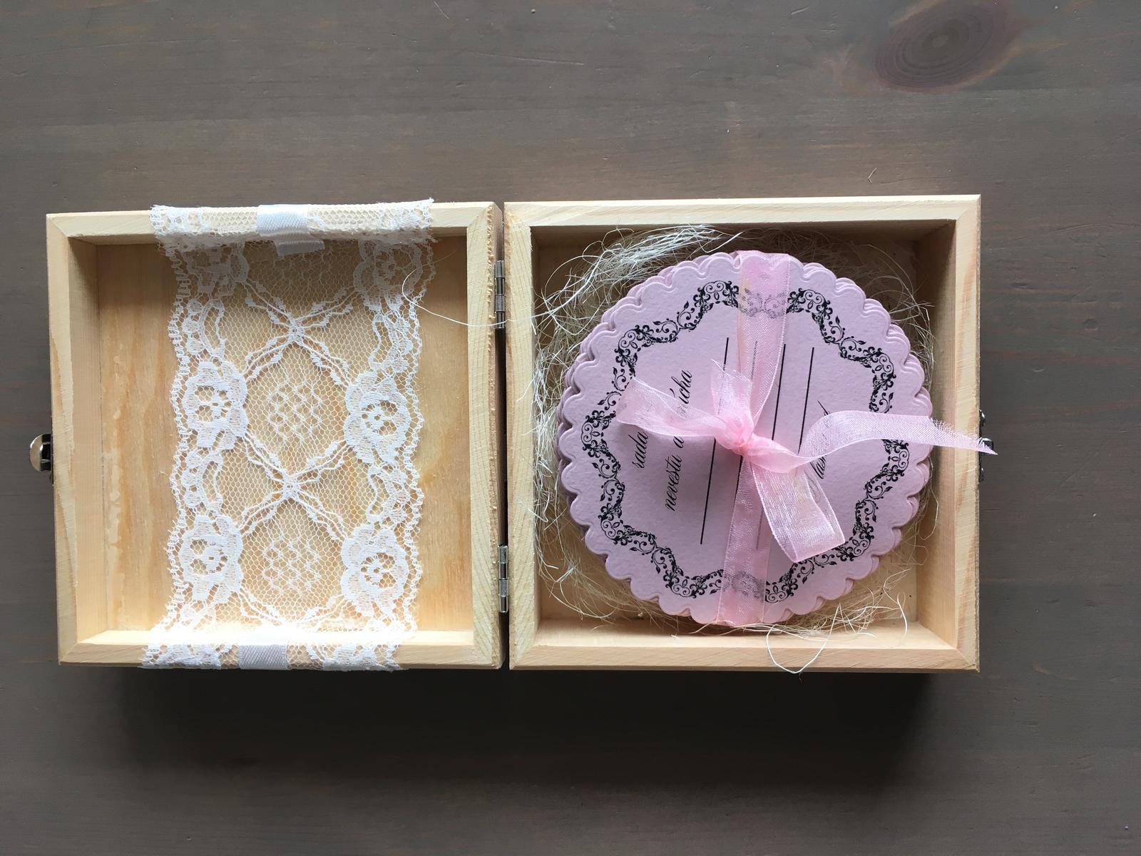 Drevená krabička - Obrázok č. 1