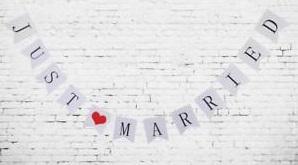 Nápis Just Married - Obrázok č. 2