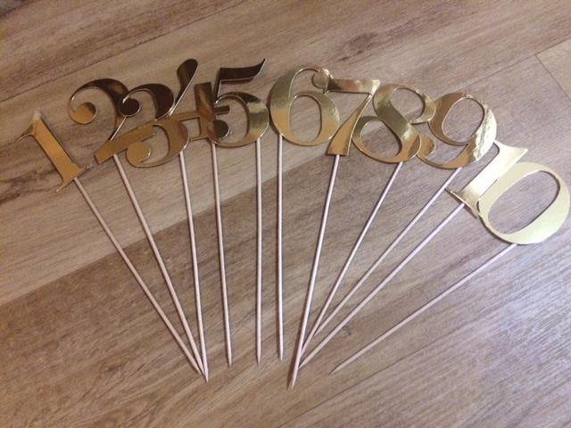Zlatá čísla stolů - Obrázek č. 1