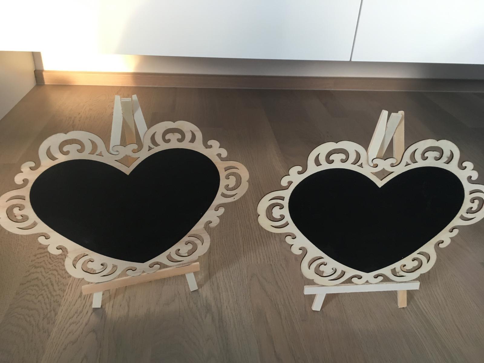 Dřevěné tabulky/srdce- popisovatelné - Obrázek č. 1