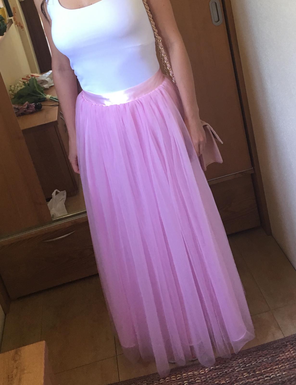 ružová tylová sukňa - Obrázok č. 1