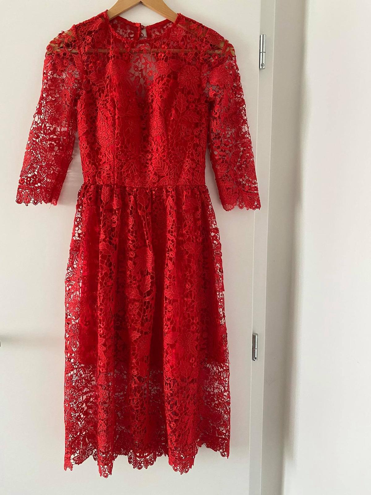 Spoločenské šaty červené - Obrázok č. 1