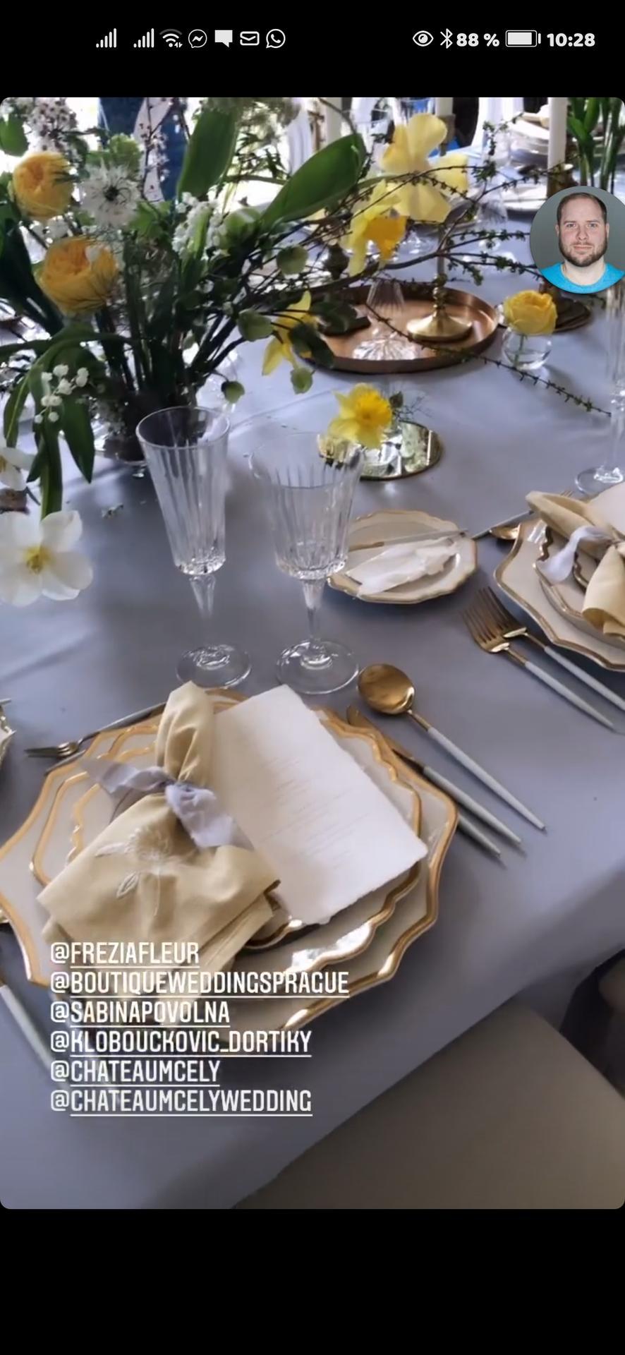 Vrabcovi 10.9.2022 - Inspirace pro svatební stoly