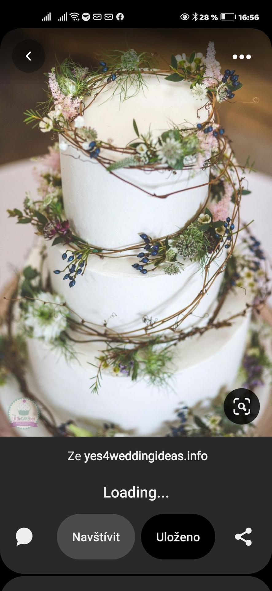 Moje představy - Svatební dort